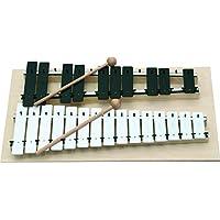 Goldon–Klangbausteine 1108025Sound Teller Chromatisches Metallophon, weiß/schwarz