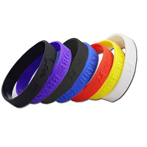 Nicedeal Silikon-Sport-Armbänder Unisex Gummi Armbänder Mischfarben 6pcs / Pack Partei Zubehör Favor Sportprodukte, Outdoor-Sportgeräte, Zubehör