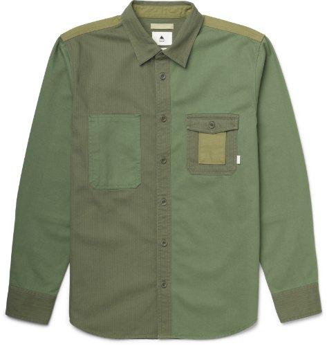 burton-camicia-casual-a-manica-lunga-da-uomo-strummer-in-flanella-verde-terriccio-44-46