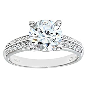 Citerna Damen-Ring 375 Gelbgold 3 Diamant 9 Karat PR5366W CZ(M)-p