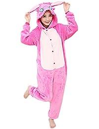 bafe7345f1ea8 Yimidear® Unisex Cálido Pijamas para Adultos Cosplay Animales de Vestuario  Ropa de Dormir Halloween y