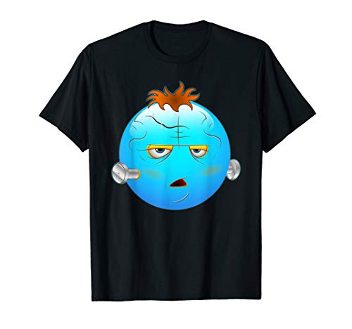 Kostüm Schädel Frauen - Nettes beängstigendes Halloween-smiley-Schädel-Kostüm Emojis T-Shirt