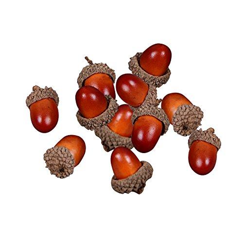 Nrpfell 20pcs 3cm Schaum Kiefer Kegel Mini Kuenstliche Gefaelschte Schaum Obst Und Gemuese Beeren Blumen Hochzeit Weihnachtsbaum Dekoration (Hellbraun)
