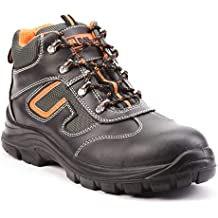2ee3424a617 Botas de Seguridad de Cuero para Hombres Botas de Seguridad para  hombresPuntera de Acero S3 SRC