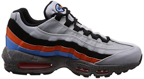Nike Air Max 95 Prm, Chaussures de Gymnastique Homme Gris (Wolf Grey/solar Red/aurora Grey 015)
