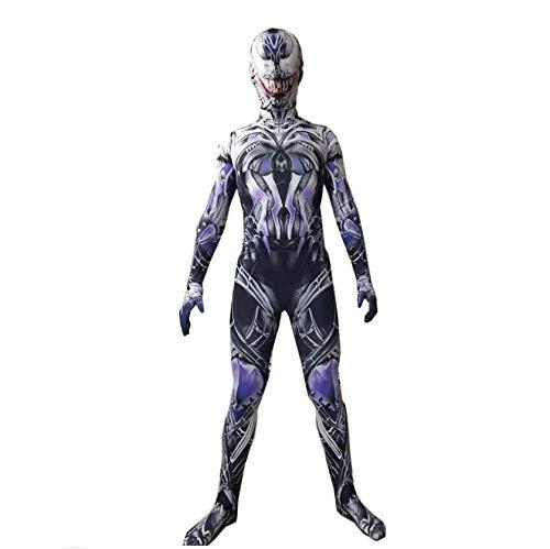 YXRL Superheld Venom Kostüme Unisex Erwachsene Kinder Overall Body Lycra Spandex Zentai Halloween Cosplay Kostüme Kids Black A-L