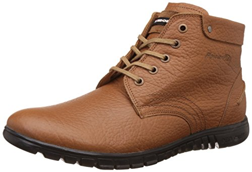 Red Chief Men's RC1365A Tan Leather Boots - 8 UK/India (42 EU)(RC1365A 006)