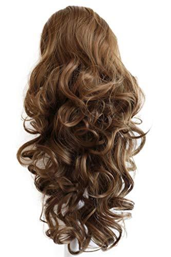 PRETTYSHOP 55cm Haarteil Zopf Pferdeschwanz Haarverdichtung Haarverlängerung VOLUMINÖS 55cm braun #6 PH21