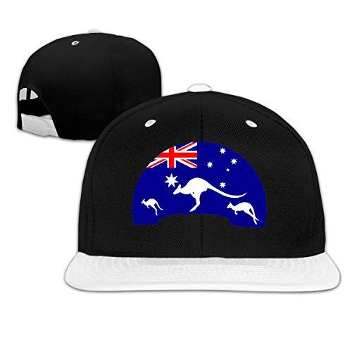 Osmykqe Loving Kangaroo Australian Flag Casual Cotton Baseball Cap Multiple Sport Caps Hat Birthday Gift Kangaroo Classic Cap