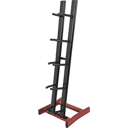 GORILLA SPORTS® Medizinball-Ständer vertikal mit 5 Ablagen – belastbar bis 100 kg in Schwarz/Rot (Slam Medizin Ball)