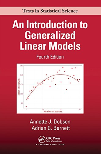An Introduction to Generalized Linear Models (Chapman & Hall/CRC Texts in Statistical Science) por Annette J. Dobson