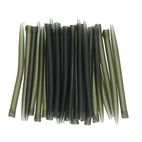 Demiawaking 30pcs Anti Tangle Sleeves Connect with Hook Carp Fishing Tackle by Demiawaking