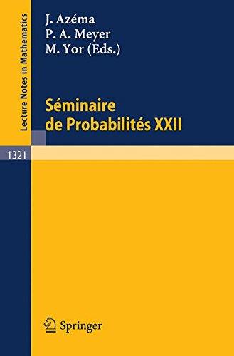 Seminaire de Probabilites XXII