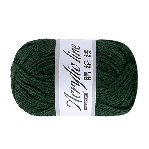 FeiliandaJJ 50g Wolle Zum Stricken & Häkeln,Acrylwolle Baumwolle Einfarbig Super weich Hand Strickgarn Strickwolle für Warme Hüte Pullover Schal Decke Strickprojekt - 12 Farben (A)