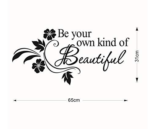 Seien Sie Ihre eigene Art der schönen Vinylwandaufkleberzitate, die Wörter für Kindermädchenschlafzimmerbadezimmer-Wohngestaltungabziehbild beschriften (Ihre Worte, Art, Silber Die)