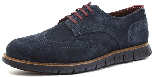 London Brogues Gatz Hommes Shoes Navy Suede/Navy Sole