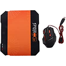 Tavakkal® Spider High Precision Mice Usb Optical Mouse With Mouse Pad Comfort COMBO For Pc Desktop Laptop