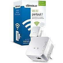 Devolo - dLAN 550 WiFi Prise Réseau CPL Wi-Fi - Module Complémentaire (x1)