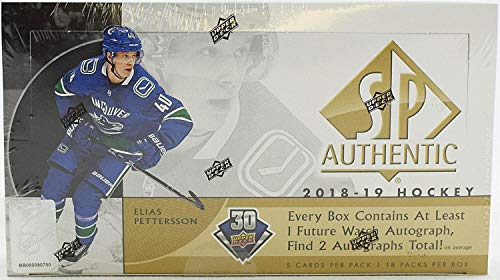 Upper Deck 2018/19 SP Authentic Hockey Hobby Box NHL