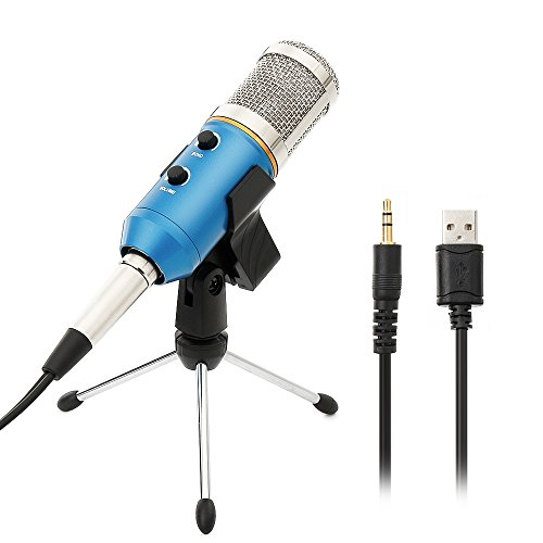 PC Microphone USB Condenser Microphone Vocal Microphone with Tripod