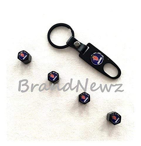 Gebraucht, Ventilkappen mit Schraubenschlüsel an Schlüsselring, gebraucht kaufen  Wird an jeden Ort in Deutschland