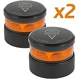 Hero Driver LED Luz Emergencia V16 Batería Litio Recargable Baliza Señalización DGT Homologada - 2 Unidades