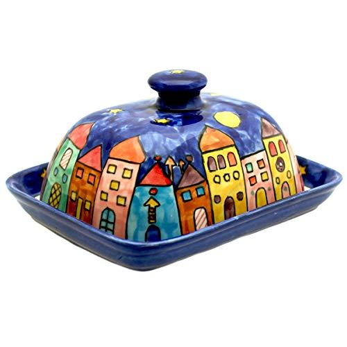 Gall&Zick Beurrier avec Couvercle en céramique Peinte à la Main Multicolore