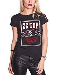 ZZ Top T Shirt Thrill band logo hot rod Nue offiziell damen Skinny Fit