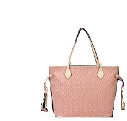 PACK Dreiteilige Taschenpaket Handtaschen Europa Und Die Vereinigten Staaten Mode Freizeit Tide Arrows Taschen,A:WineRed E:Pink