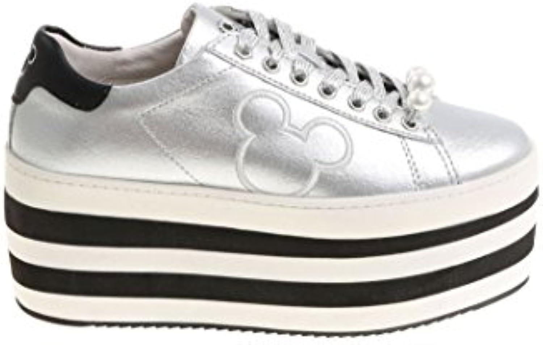 Moa Mujer MD172KIT Plata Cuero Zapatillas  Venta de calzado deportivo de moda en línea