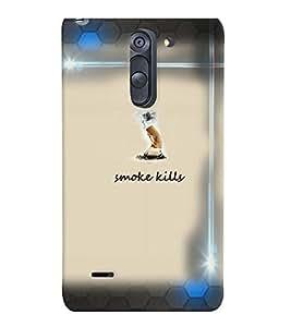 PrintVisa Quotes & Messages Smoke 3D Hard Polycarbonate Designer Back Case Cover for LG G3 STYLUS