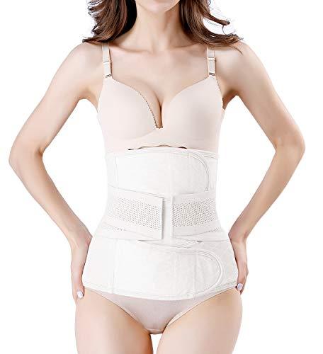 Bauchbandage, nach der Geburt, C-förmig, Rückenstütze, Bauchband - Weiß - XL Passen Taille 39'' / 48'' (Post Csection Bauchband)