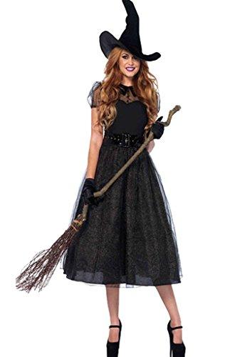 chen Halloween Kostüm Hexe Cosplay Bekleidung Faschingskleid Erwachsene L Muster # C (Hexe Halloween Kostüme Für Mädchen)