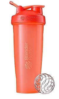 BlenderBottle C01642 Plastic Classic Loop Top Shaker Bottle, 945 ml (Coral)