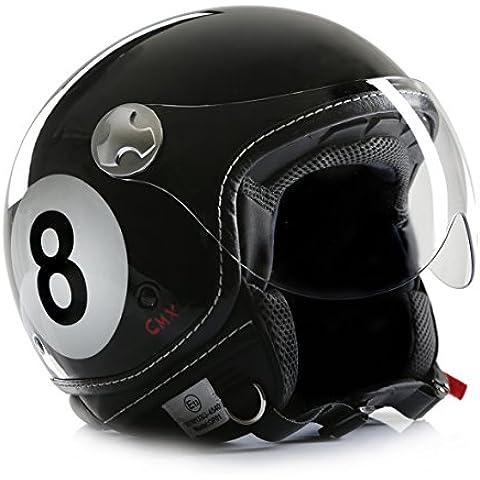 'Casco de Moto Casco Jet Chopper Cafe Racer cmx