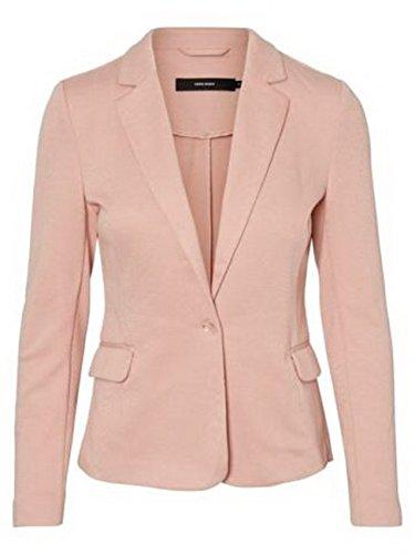 Vero Moda Damen Blazer VMJULIA LS BLAZER DNM, Größe:42, Farbe:Misty Rose (10154123)