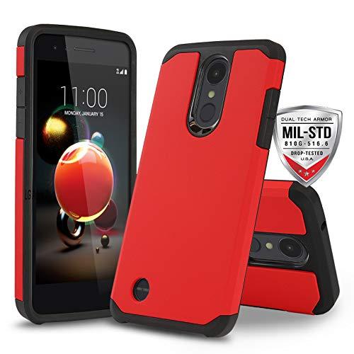Schutzhülle für LG Optimus Zone 4 (Verizon Wireless), [DuoTEK Serie] Stoßfeste Hartschale [stoßfest] für LG Optimus Zone 4 (Verizon Wireless Prepaid-Telefon), rot - Prepaid-verizon-handys