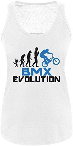 EZYshirt® BMX Evolution Damen Tanktop Weiss/Schwarz/Blau