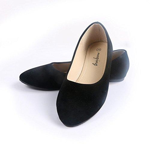 Qianliuk Damen Casual Schuhe Frühling Spitze Zehen Flache Ballett Herde Flache Schuhe Slip auf Loafers