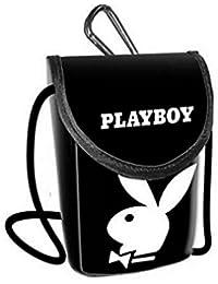 1 PETITE SACOCHE PLAYBOY PORTE TELEPHONE MP3 AVEC MOUSQUETON NOIR MODE
