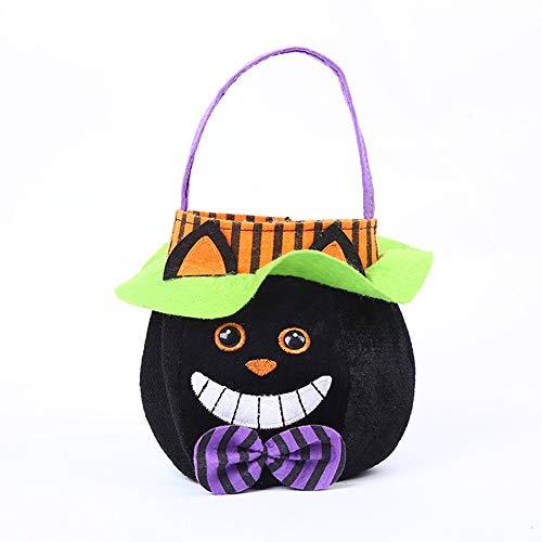 XUEQIN Halloween Children Es Candy Bag, Candy Tote, Kinder Tuch Tote Tasche Halloween Dekoration Hängende Tasche,C