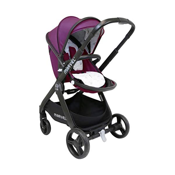 iSafe Marvel 2in1 Complete Pram System Pushchair and Carseat - Marrone iSafe  3