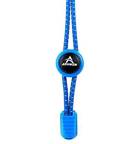 ATHWIN LACES – Schnellschnürsystem – 1 Paar elastische Schnürsenkel mit Schnellverschluss – Perfekter Sitz und einzigartiger Komfort – (Royal (Acht Knoten-knopf)