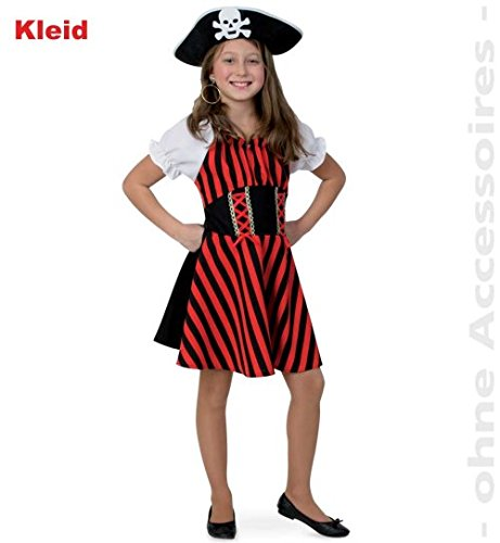 Piratin Royal Pirate Girl 164 1tlg Kleid Mädchen Fasching Kinder-Kostüm (Jake Der Pirat-kostüm)