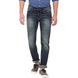 Flying Machine Men's Tapered Fit Jeans (8907378846228_FMJN7871_36W x 33L_Blue)