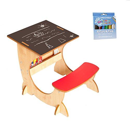 Little Helper en semble 4- en 1 Bureau, Tableau & Chevalet Réversible en Bois pour Enfants Artstation avec Crayons magiques lavables/merveilleux maïs
