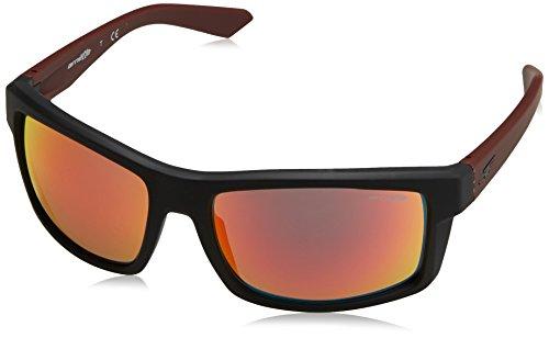 Arnette Herren Sonnenbrille 0AN4216 23266Q, Schwarz (Fuzzy Black/Redmirror), 61