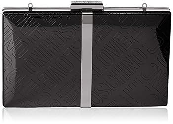 Love Moschino Borsa Embossed Tpu Nero, Sacs baguette femme, Noir (Black), 3x13x20 cm (B x H T)