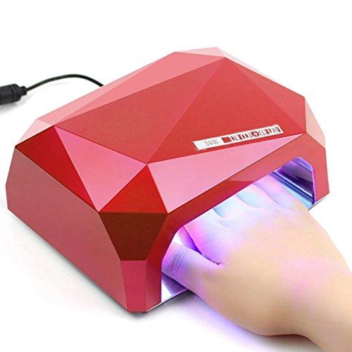 Nail Gellampe - UV CCFL LED Gellampe mit Timer & Eischaltautomatik