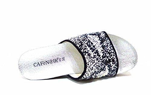 CafèNoir HA 912 -226 sandali ciabatta zeppa anatomica nero pitonato Nero